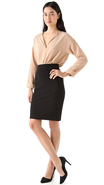Vince Textured Pencil Skirt