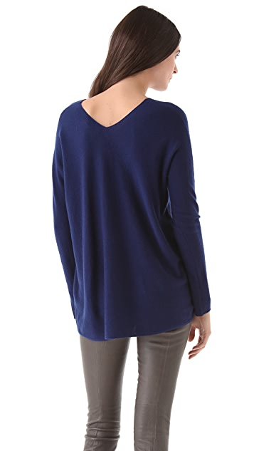 Vince Double V Neck Cashmere Sweater