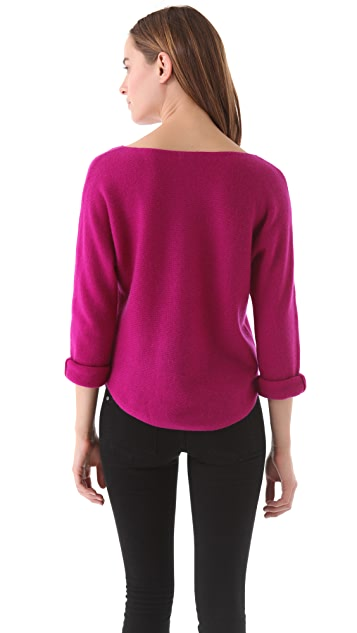 Vince Shirttail Boat Neck Sweater