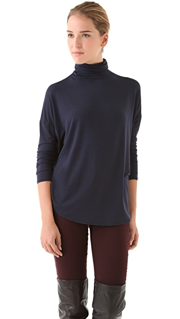 Vince Shirttail Turtleneck