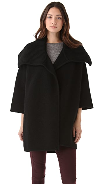 Vince Boiled Wool Sweater Coat