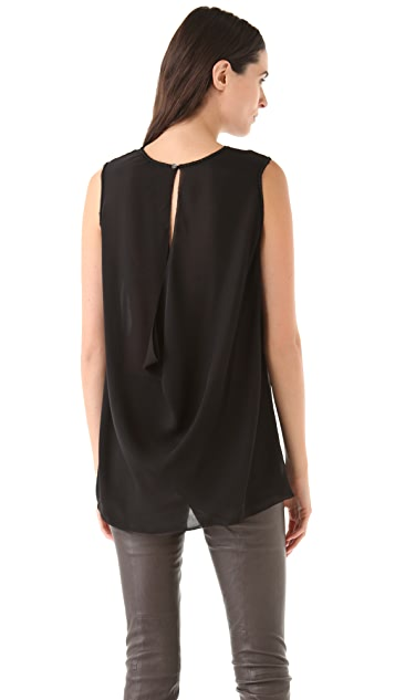 Vince Drape Back Shell Top