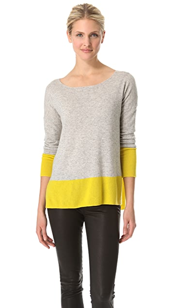 Vince Cashmere Colorblock Sweater
