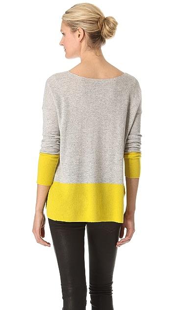 Vince Cashmere Colorblock Sweater