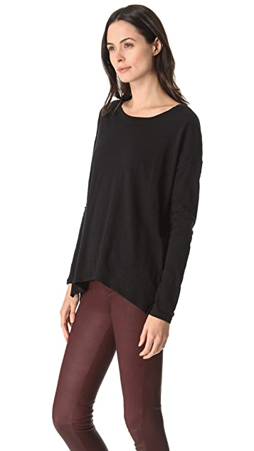 Vince Shirttail Long Sleeve Tee