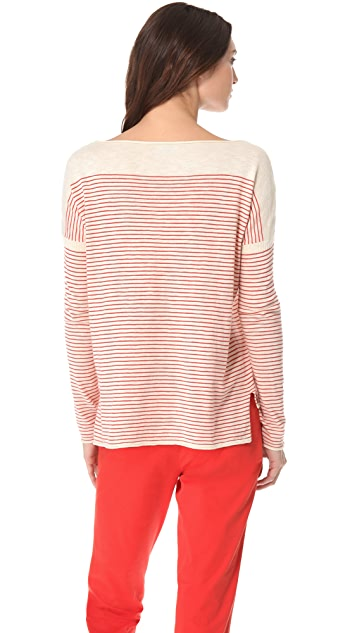 Vince Stripe Slub Sweater