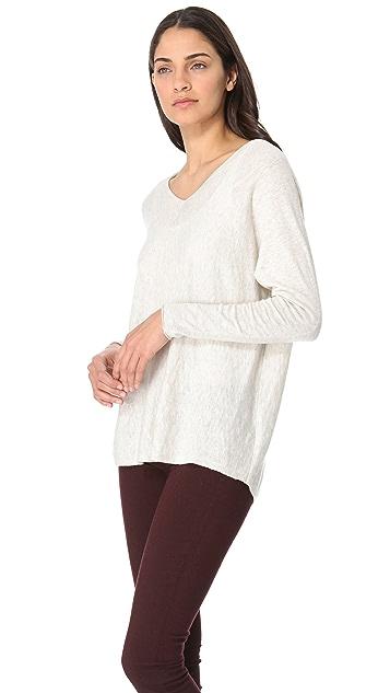Vince V Neck Slub Sweater