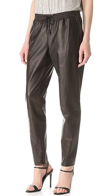 Vince Leather Jogger Pants
