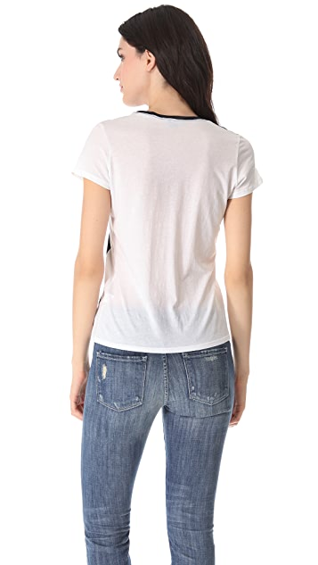 Vince Short Sleeve Colorblock Tee