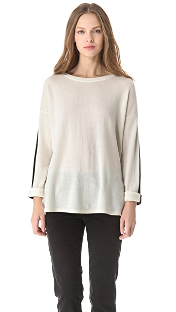 Vince Cashmere Sweater with Slit Hem