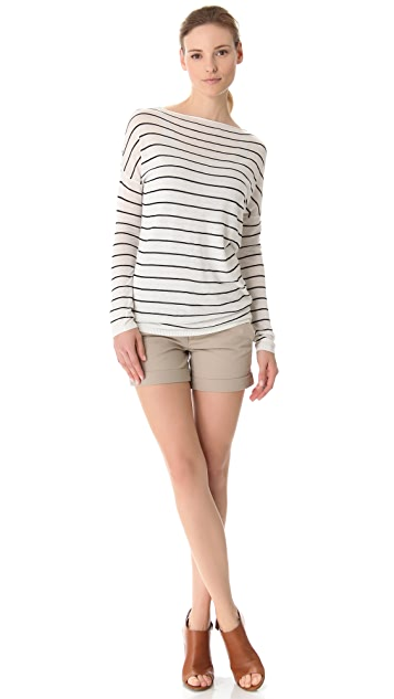 Vince Striped Boatneck Sweater