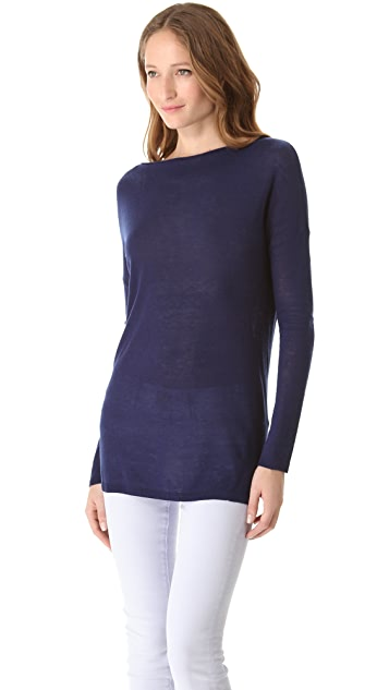 Vince Solid Boat Neck Sweater