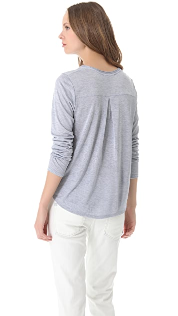Vince Long Sleeve Shirttail Tee