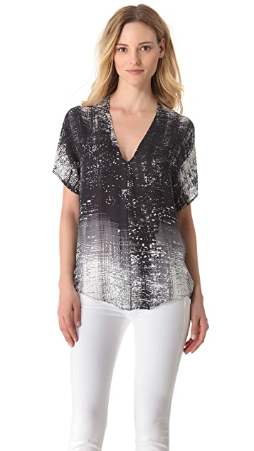 Vince Graffiti Print Top