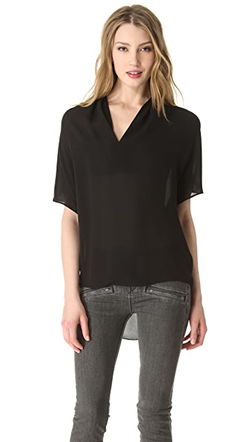 Vince Drape Neck Top