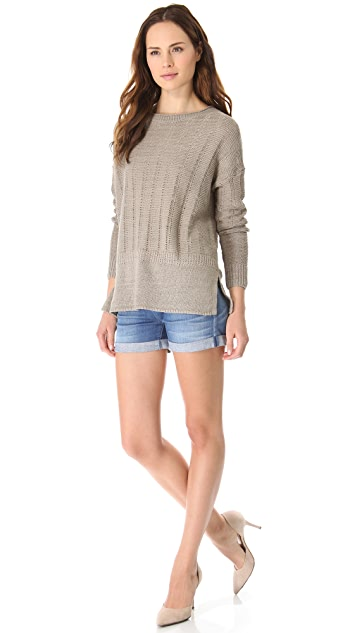 Vince Stretch Crew Sweater