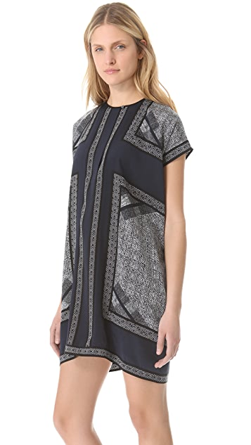 Vince Border Print Tunic Dress