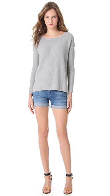 Vince Seed Stitch Crew Sweater