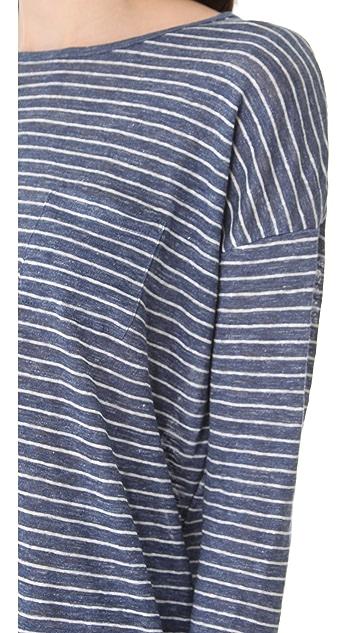 Vince Striped Long Sleeve Tee