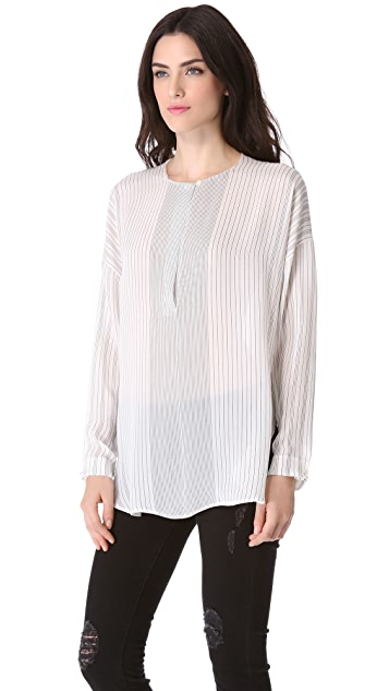 Vince Half Placket Blouse