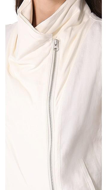 Vince Leather Asymmetrical Vest