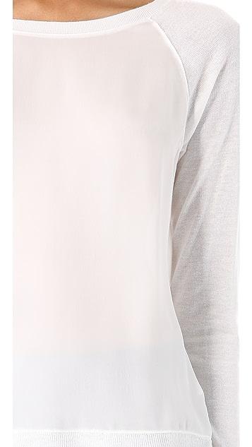 Vince Raglan Silk Trim Sweater