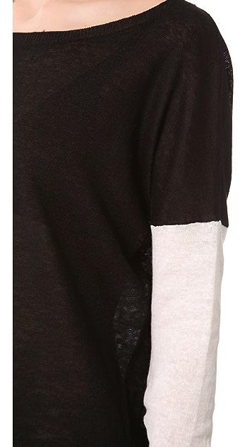 Vince Colorblock Drop Shoulder Sweater