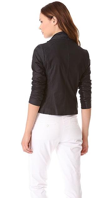 Vince Paper Leather Scuba Jacket Shopbop