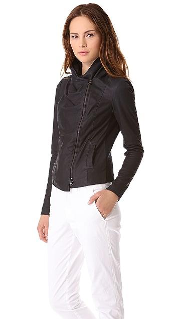 Vince Paper Leather Scuba Jacket