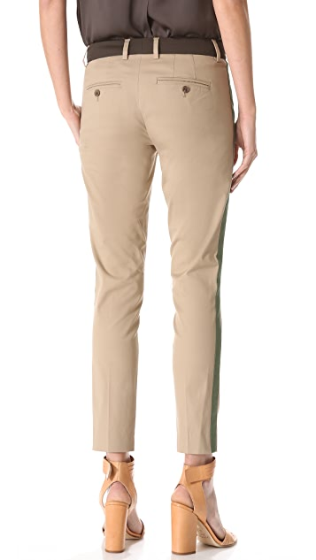 Vince Tricolor Strapping Pants