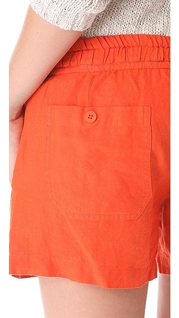 Vince Drawstring Linen Shorts