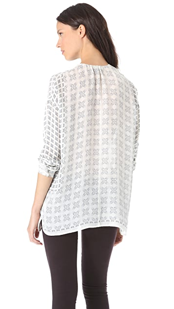 Vince Wide Placket Blouse