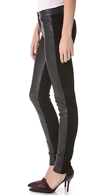 Vince Mixed Leather Pants
