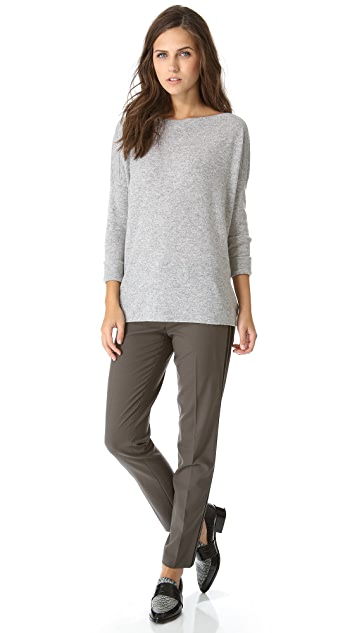 Vince Ribbed Shoulder Cashmere Sweater
