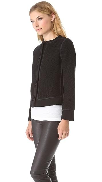 Vince Knit Overlay Jacket