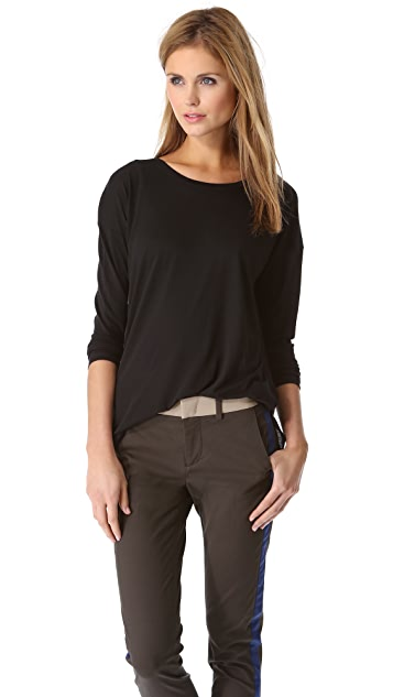 Vince Side Slit Crew Top