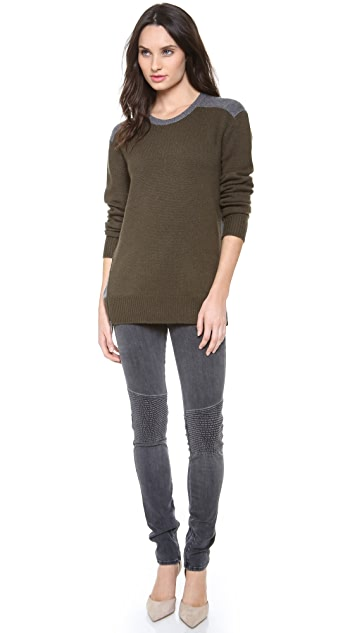 Vince Zip Side Colorblock Sweater