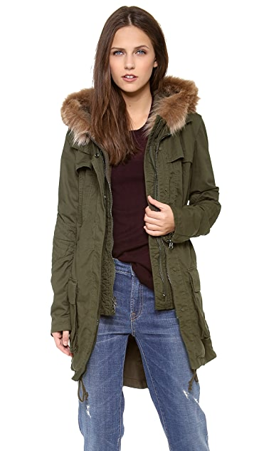 Vince Fur Trimmed Hooded Anorak
