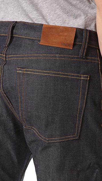 Vince Selvedge Straight Leg Jeans