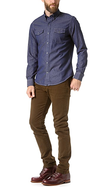 Vince Indigo Oxford Shirt