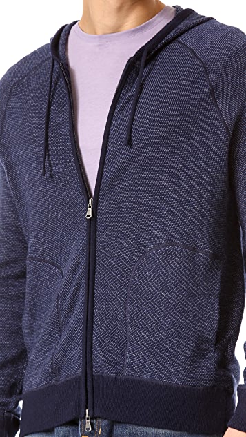 Vince Birdseye Zip Hoodie Sweater