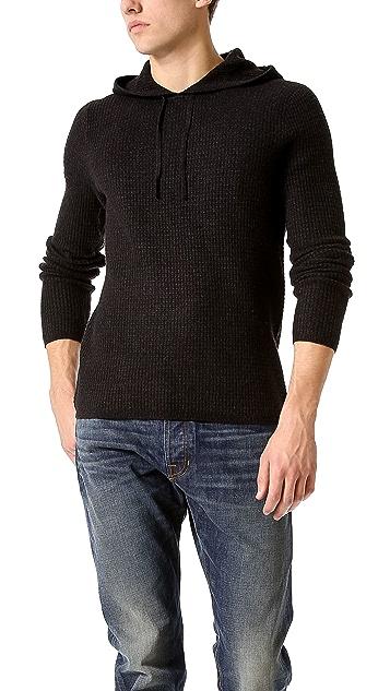 Vince Thermal Pullover Hoodie