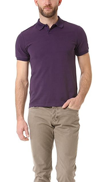 Vince Fine Pique Short Sleeve Polo
