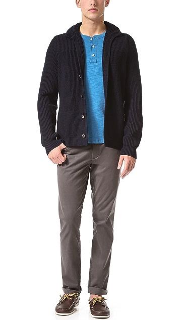 Vince Slub Jersey Short Sleeve Henley