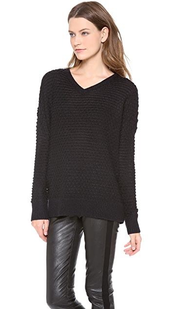 Vince Textured V Neck Sweater