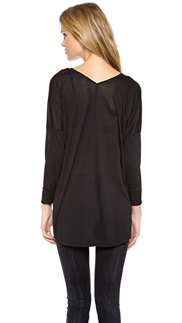 Vince Long Sleeve Double V Tee