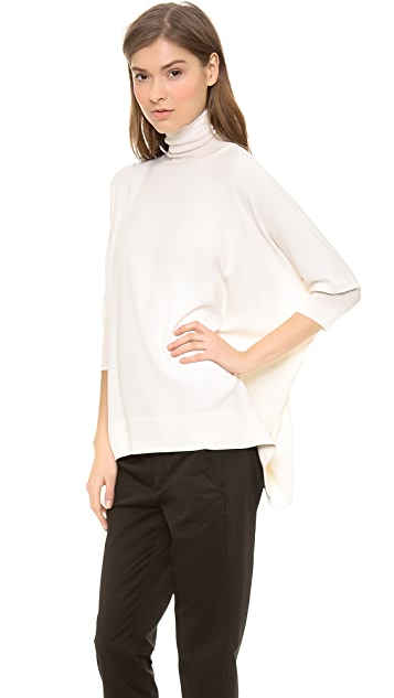 Vince Cashmere Trim Fitted Poncho