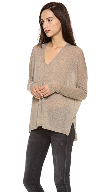 Vince Seamed Double Vee Sweater