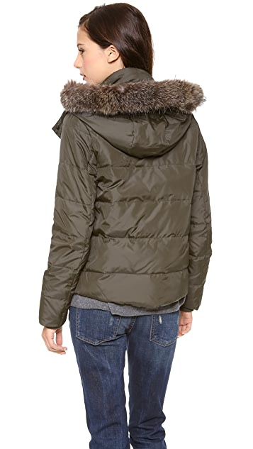 Vince Fur Trimmed Puffer Coat