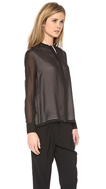 Vince Double Layer Blouse